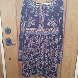 Knox rose paisley hippy dress med